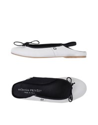 Collection Priv E Footwear Ballet Flats Women White