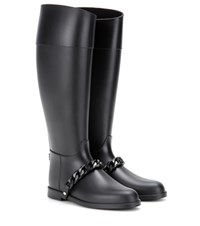 Givenchy Eva Chain Wellington Boots Black