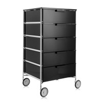 Kartell Mobil 5 Drawer Wheels Glossy Smoke