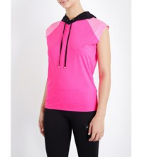 Monreal London Lightweight Sleeveless Stretch Jersey Hoody Glow