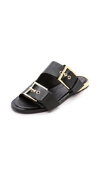 Rachel Zoe Parla Two Band Sandals Black
