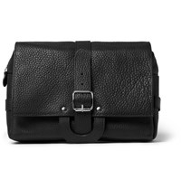 D R Harris Full Grain Leather Hanging Wash Bag Black