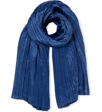 Issey Miyake Madame Pleated Scarf Blue