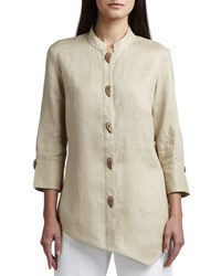 Go Silk Asymmetric Linen Blouse Women's