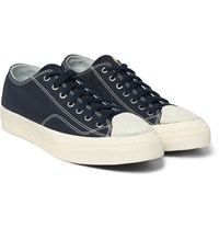 Visvim Skagway Cotton Canvas And Leather Sneakers