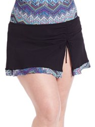 Gottex Swim Plus Size Skyline Skirted Tankini Bottom