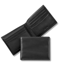 Tasso Elba Sheep Antique Bifold Wallet Black
