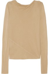 Rick Owens Ruched Stretch Jersey Top Nude