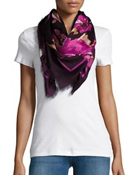 Collection 18 Floral Fringed Scarf Red
