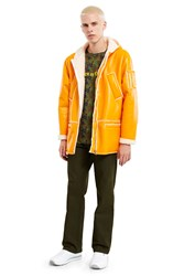 Gosha Rubchinskiy Hooded Sheepskin Coat Yellow