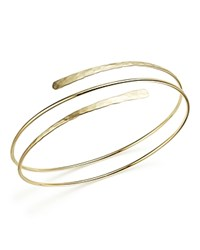 Bloomingdale's 14K Yellow Gold Double Hammered Overlap Cuff