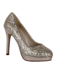 Rainbow Seralio Sequin Court Shoes Silver