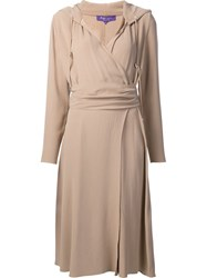 Ralph Lauren Back Crepe Carley Dress Nude And Neutrals