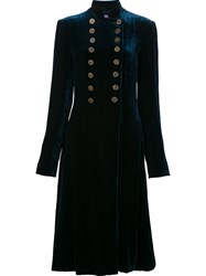 Ralph Lauren Military Velvet Coat Blue