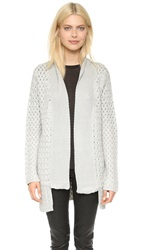 La Fee Verte Open Drape Cardigan Light Grey
