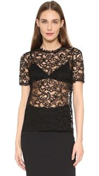 Nina Ricci Lace Top Black