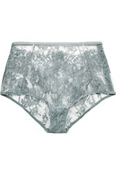 I.D. Sarrieri Chantilly Lace Briefs Gray