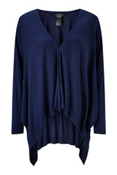 James Lakeland Side Drape Cardigan Navy