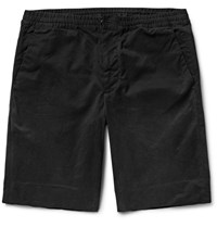 Paul Smith Brushed Stretch Cotton Twill Shorts Black