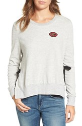 Pam And Gela Women's Lips Side Tie Pullover