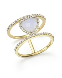 Meira T 14K Yellow Gold And Blue Lace Chalcedony Ring Blue Gold