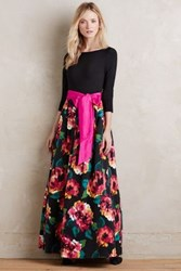 Anthropologie Marlow Gown Black Motif