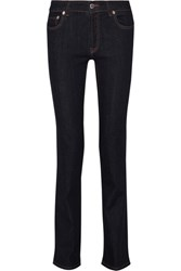 Prada Mid Rise Straight Leg Jeans Dark Denim
