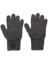Dsquared2 Classic Ribbed Gloves Grey