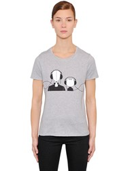 Karl Lagerfeld And Choupette Cotton Jersey T Shirt