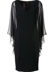 Tom And Linda Platt Tulle Sleeve Dress Black