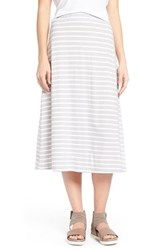 Women's Eileen Fisher Organic Cotton A Line Skirt Dark Pearl White