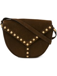 Saint Laurent 'Y Studs' Satchel Brown