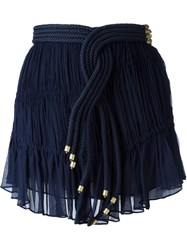 Jay Ahr Rope Detail Mini Skirt Blue