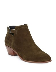 Via Spiga Caryn Suede Booties Military Green