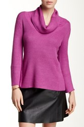 Cyrus Cowl Neck Bell Sleeve Sweater Purple