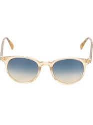 Oliver Peoples 'Delray Sun' Sunglasses Yellow And Orange
