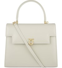Launer Traviata Leather Tote Beige