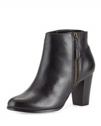 Cole Haan Davenport Leather Zip Up Bootie Black
