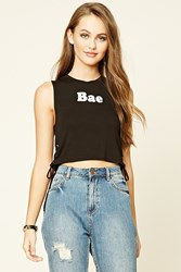 Forever 21 Bae Lace Up Crop Top