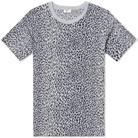 Engineered Garments Saint Laurent Leopard Print Tee Grey And Black
