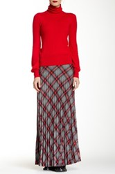 L.A.M.B. Plaid Wool Blend Skirt Multi