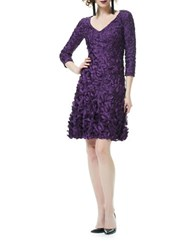Theia Flared Skirt Cocktail Dress Berry
