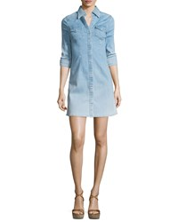 Ag Jeans Ag Jacqueline Button Front Chambray Shirtdress Crane Women's Size S