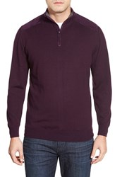 Men's Bugatchi Merino Wool Quarter Zip Sweater