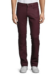 Versace Slim Fit Bourdeax Moto Pants Bordeaux