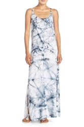 Hard Tail Graphic Maxi Dress Blue