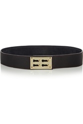 Sophie Hulme Textured Leather And Gold Plated Belt Purple