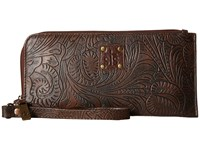 Sts Ranchwear The Floral Clutch Chocolate Clutch Handbags Brown