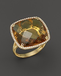 Bloomingdale's Citrine And Diamond Statement Ring In 14K Yellow Gold Orange Gold