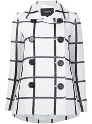 Derek Lam Checked Coat White